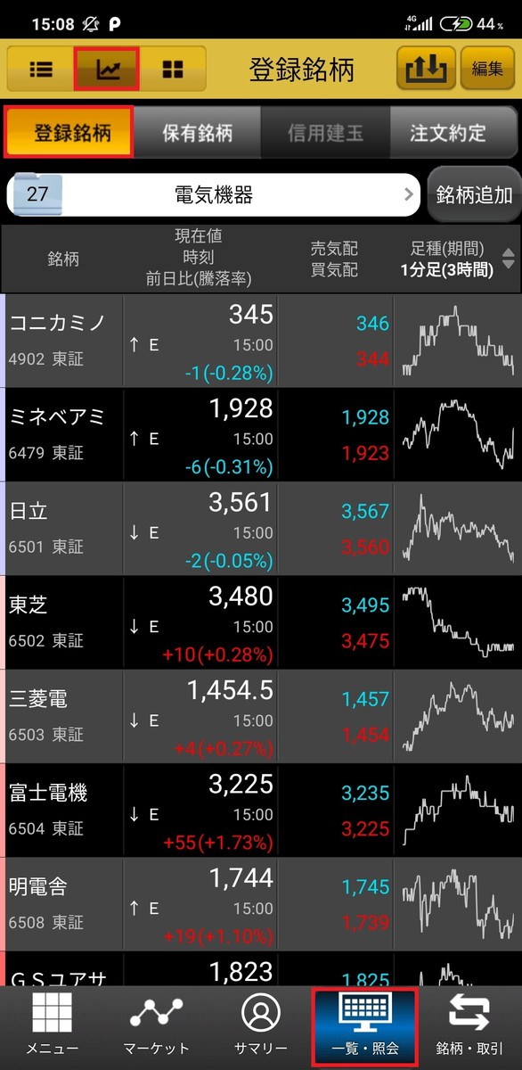 マネックス証券のスマホアプリ「マネックストレーダー株式」の使い方を説明します